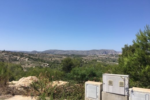 Plot for sale in Moraira.
