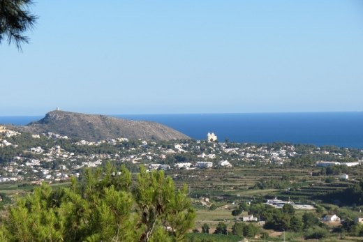 Sea view plot for sale in Teulada