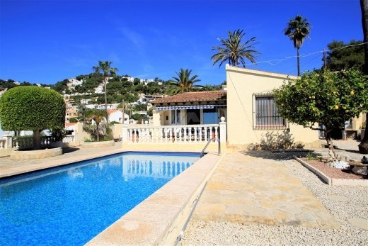 Sea view villa for sale in Moraira, Costa ...