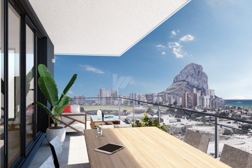 Sea view apartments for sale in Calpe, Cos...