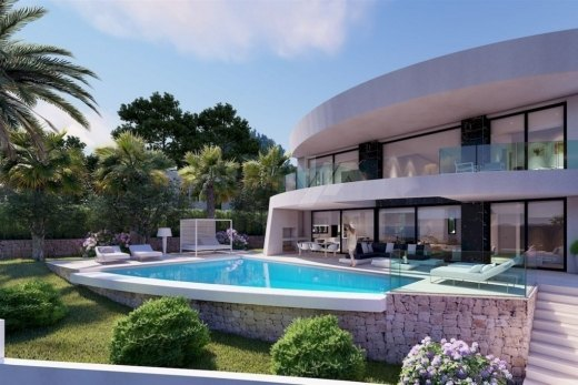 Luxury sea view villa for sale in Moraira.