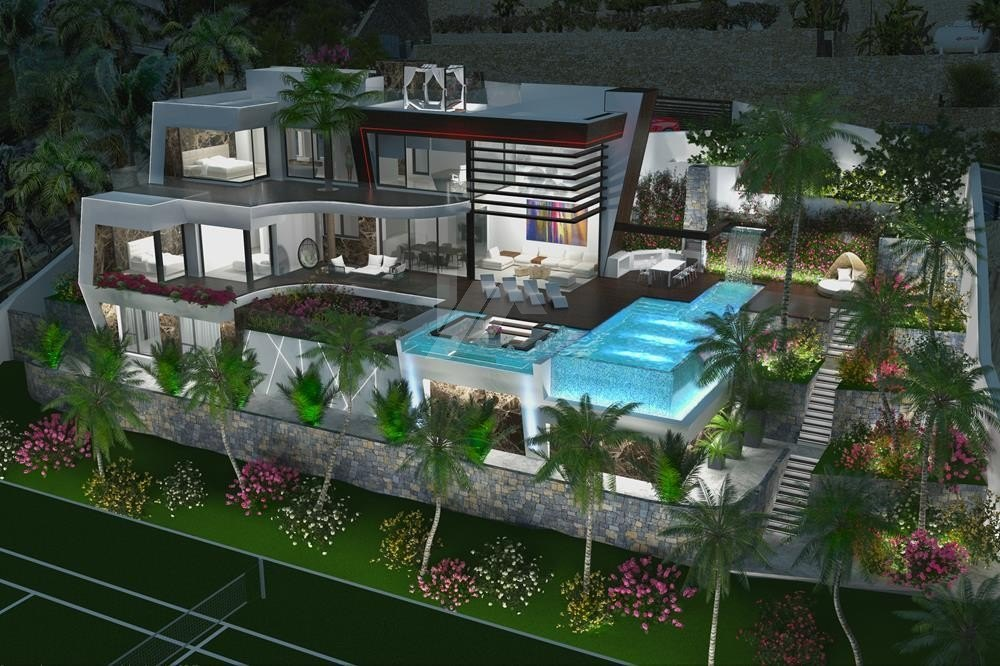 New construction for sale in Benissa, panoramic sea view.