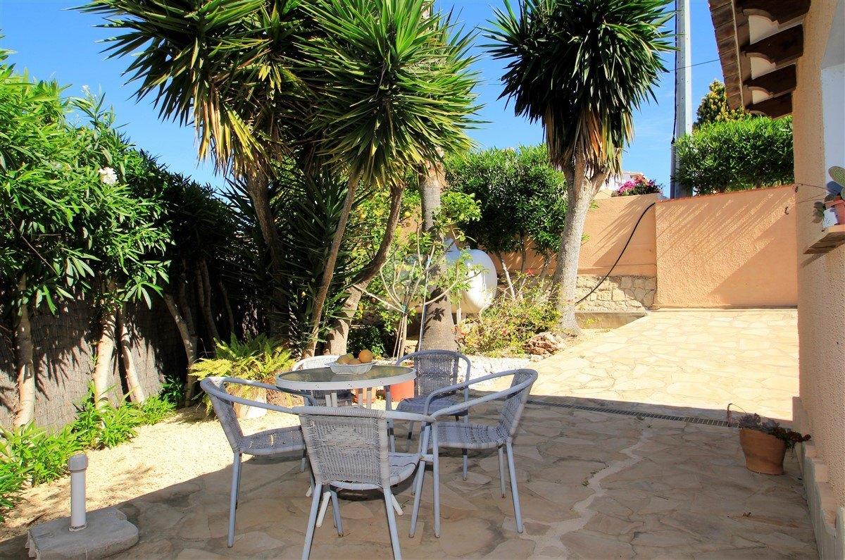 One level villa for sale in Moraira, Costa Blanca.