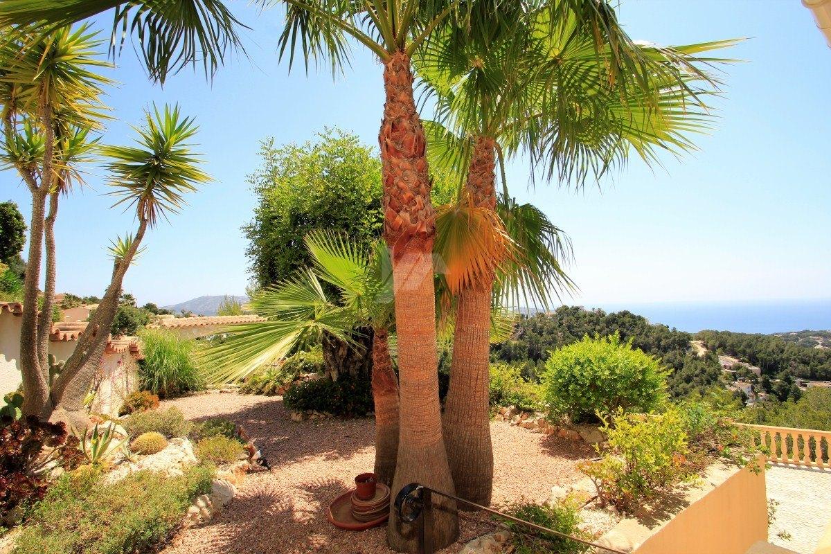 Panoramic sea view villa for sale in Teulada-Moraira, Costa Blanca.