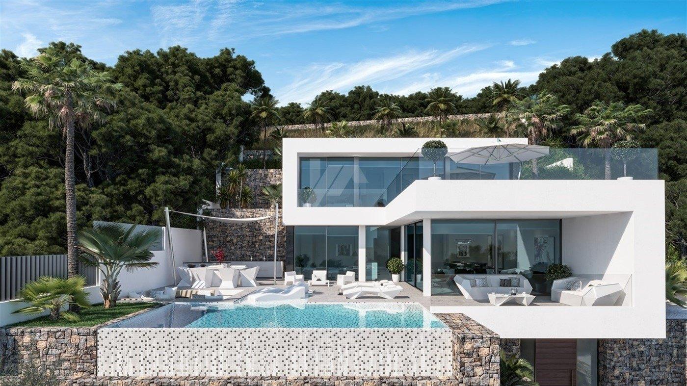 Luxury sea view villa for sale in Calpe, Costa Blanca.
