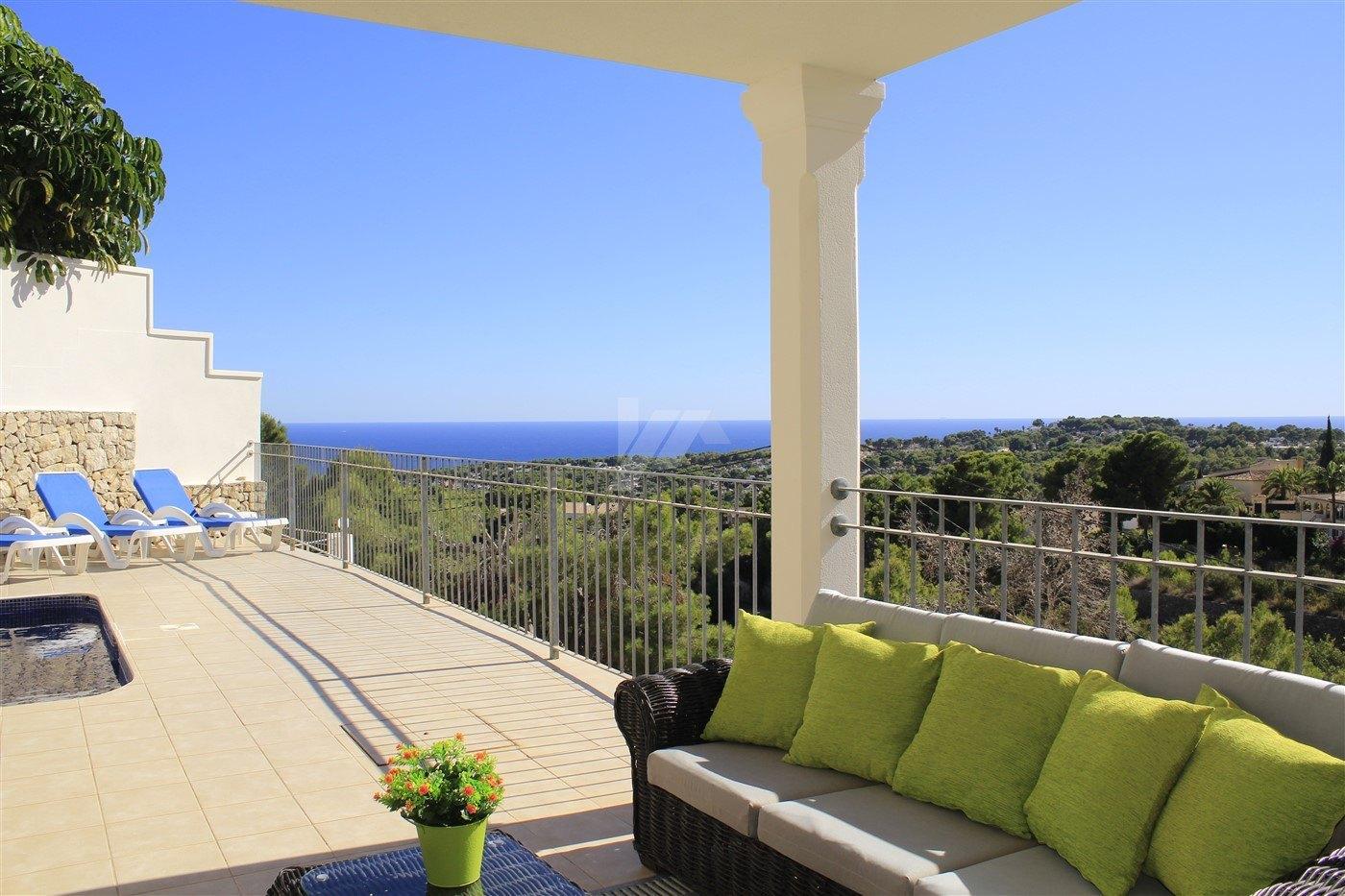 Immaculate sea view villa for sale in Moraira, Costa Blanca.